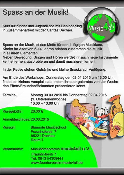 30.3.-2.4.2015 music4all Workshop