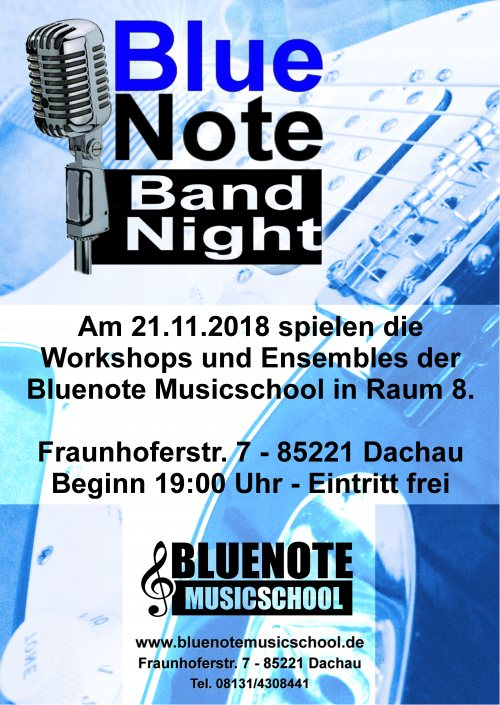 Bluenote Bandnight am 21.11.2018